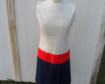 Vintage Dress Red, White, and Blue Tarheel Fashions Size 12