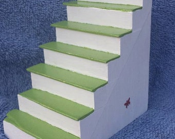Fairy door stairs, doll house stairs, with butterfly accents.