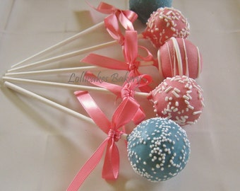 Cake Pops: Gender Reveal Party Cake Pops Made to Order with High Quality Ingredients