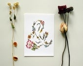 Ampersand - Floral Watercolor Print - 5 x 7