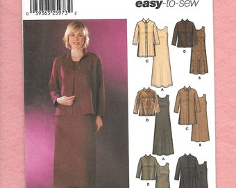 Simplicity 5904 Misses' Dresses, In Two Lengths, And Cover Up Jacket In Two Lengths, Sizes 16 To 24, UNCUT