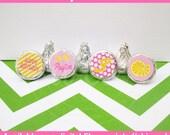 Lemonade Chocolate Kiss Stickers - Pink Lemonade Stickers - Pink and Yellow Candy Stickers - DIGITAL and PRINTED