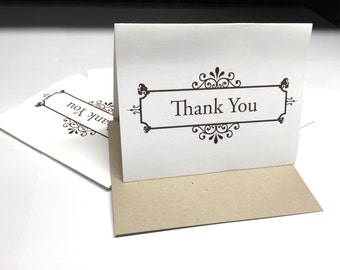 Thank You A2 Offset Printed Notecards