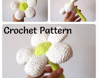 Flower Baby Rattles - Crochet Pattern