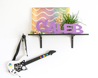 """24"""" Wide Personalized Name Cutout Sign - Graffiti Skater Style Bedroom Decor - Custom Name Sign Wall Decor - Tween Room Decor"""