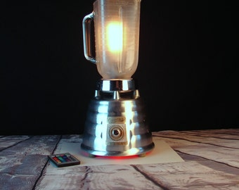 Lamp - Lighting - Upcycled LED Lamp - Vintage Blender Light