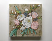 Pastel flower bouquet painting pretty wall art home decor - A Bouquet for Adeline