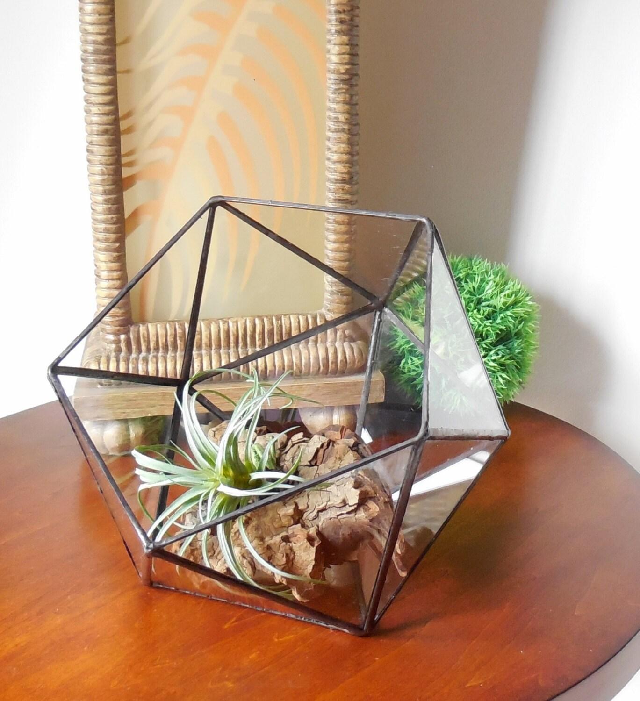 Glass terrarium indoor gardening clear glass planter for Indoor gardening glasses