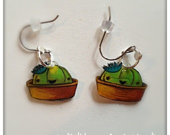 Cactus Charm Earrings