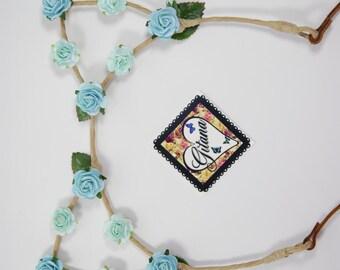 Turquoise Cat Ear Headband- Lolita Headband- Lolita Cat Ear- Kawaii-Cosplay- Crown- Flower Crown-Turquoise.