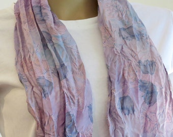 Silk Infinity Scarf, Silk Scarf, Neck scarf