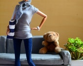 Darkwash Skinny Jeggings for Barbie Fashionista dolls