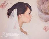 Wedding Veil, Bridal Veil, Clip Veil, Soft Tulle Veil, Art Deco Veil, The Cora Draped Wedding Veil #155