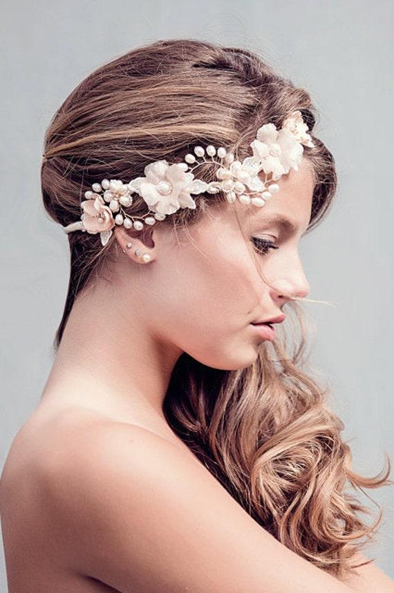 custom couture rustic wedding flower crown wedding hair. Black Bedroom Furniture Sets. Home Design Ideas