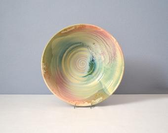 Large Vintage Tony Evans Ancient Sands Studio Pottery Raku Bowl