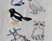 embroidery pattern 5 woodland animals modern hand embroidery