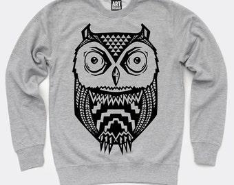 Aztec Owl Sweatshirt by Art Disco