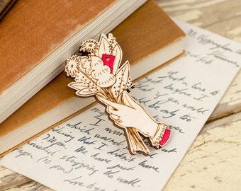 Love Letter Bouquet Brooch