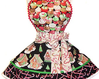 Ready To Ship! New 2015 Christmas Pinup/Diner Apron-A Limited Edition Only from Tie Me Up Aprons