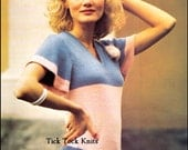 No.396 Knitting Pattern Vintage PDF - Women's Fluted-Sleeve Sweater / Knit Summer Top - Instant Download