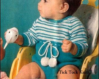 No 179 Pdf Vintage Knitting Pattern Baby Boy S Or