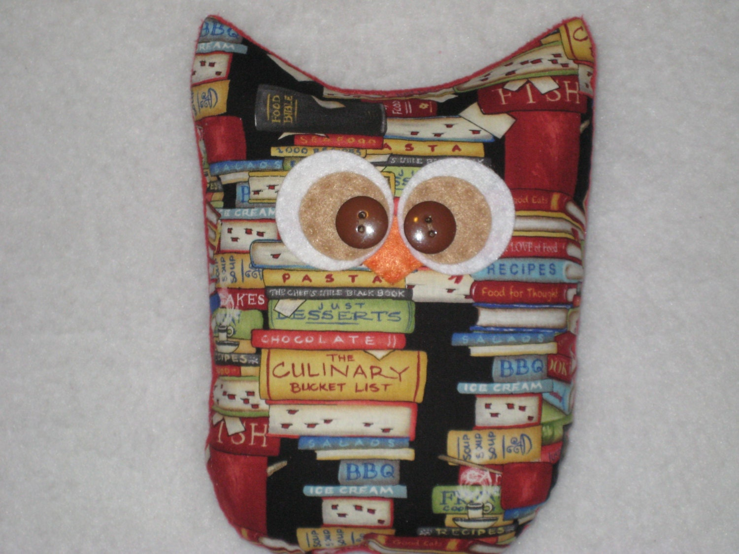 large cookbook owl kitchen decor chef gift owl by stitch4dreams