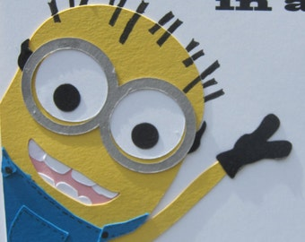 Minions Greeting Card Kit. Makes 3 cards. Paper Piecing Kit  Free Shipping!!