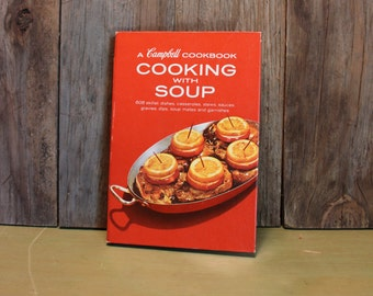Campbell's Soup Cookbook Retro Kitchen Cooking Vintage 1970s 70s (L)