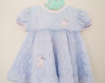 Vintage Dress Baby Girl 1950s Nannette