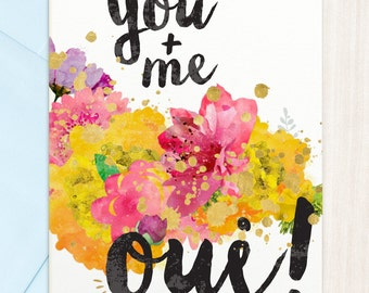 You Me Oui  | Greeting Card