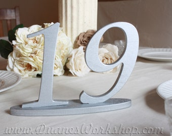 """6"""" Customizable Wedding Table Numbers, Wooden, Wedding reception, Painted"""