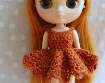 Crochet Middie Blythe Dress Orange.