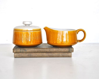 Mid Century Yellow Cream and Sugar Set - Franciscan Ceramic