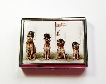 Smoking Dogs Cigarette Case, Cigarette Holder, Cigarette Case, Metal Wallet, Cigarette dispenser, Stainless Steel, Dogs (4919)