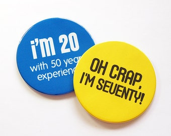 Seventy, 70th, Set of Coasters, 70th Birthday Coasters, Drink Coasters, Coasters, Birthday Party, birthday, Humor, Funny Coasters (5049c)