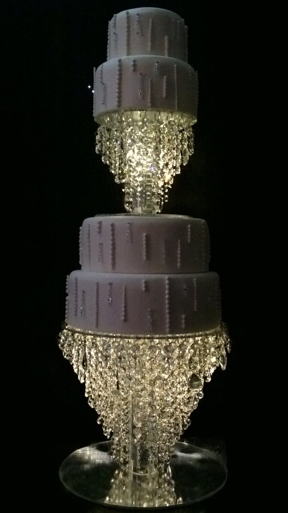 crystal cake stand  tier set chandelier design faux crystal, Lighting ideas