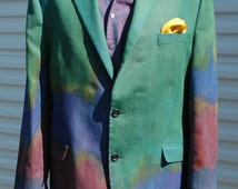 44R  Mens Hand Painted Sports Coat