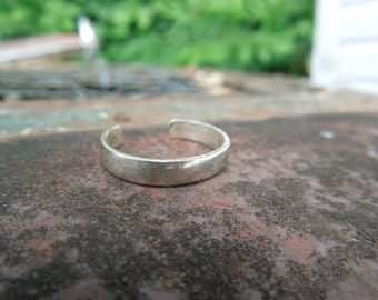 Sterling Silver Toe Ring Band