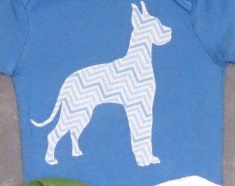 Pick your DOG BREED!  Custom baby bodysuit with dog breed of your choice - onsie