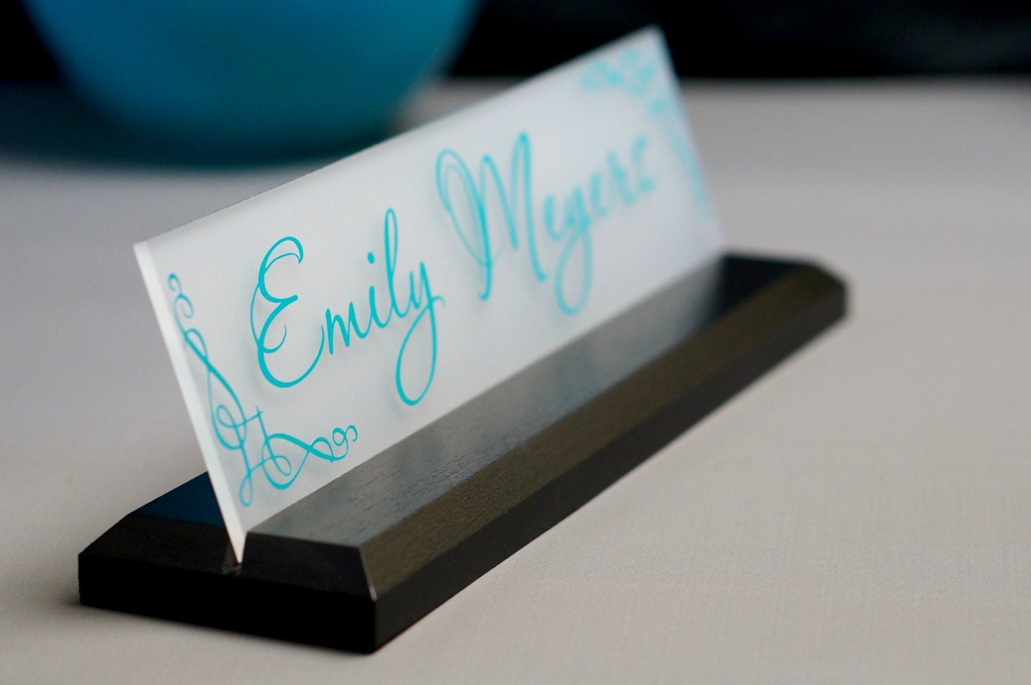 desk name plate office supply personalized secretary sign gift