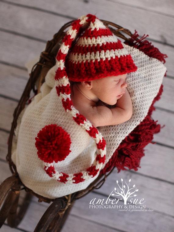 Baby Christmas HatNewborn Baby Hatcrochet Baby Hatnewborn