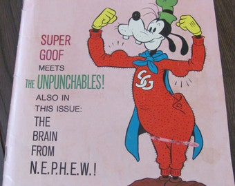 Vintage 1960's Super Goof Walt Disney Comic Book