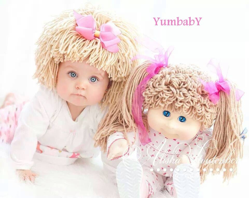 Cabbage Patch Hat Beanie Wig Baby Costume Costumes For