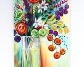 "36"" x 24"" Acrylic Painting on canvas: Arrangement no. 3"