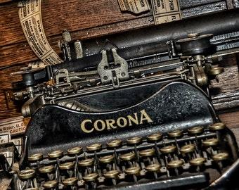 8x8 Vintage Typewriter 2 Photo Print