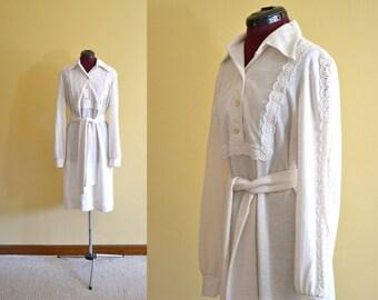 1960s Vintage Plus Size J Harlan Originals Oatmeal Open Lace Dress size XL bust 40