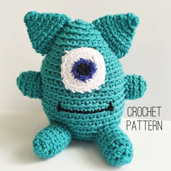 Terbert the Monster Amigurumi Crochet Pattern Stuffed Monster