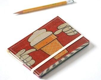 Upcycled Mini Journal- Ice Cream Edition
