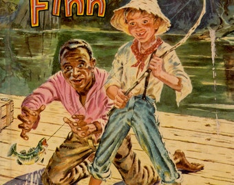 Huckleberry Finn by Mark Twain, illustrated by Paul Frame (Abridged edition)
