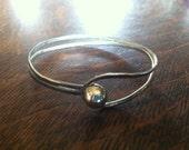 Silver Ball Loop Bracelet